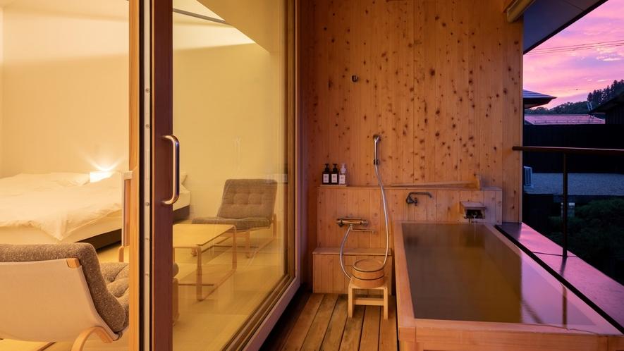 【YAMAGATA04】檜の露天風呂