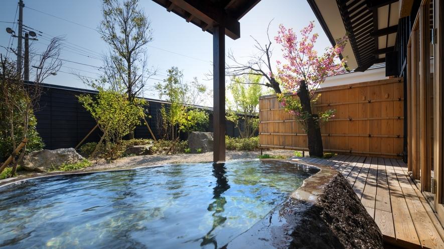春の客室専用露天風呂※KURA04