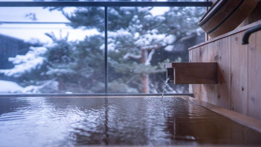 2階の露天風呂から眺める雪景色※YAMAGATA05