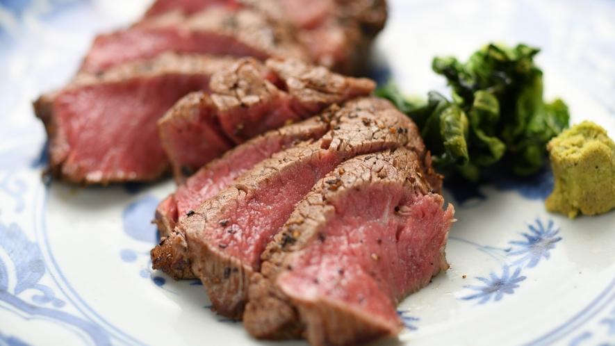 【別注料理】米沢牛のシャトーブリアンステーキ例
