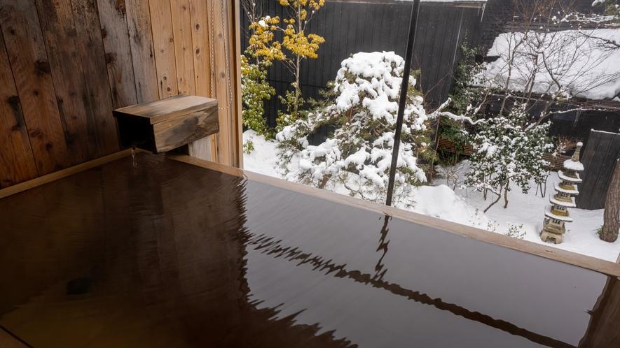 【KURA06】雪景色を眺める露天風呂