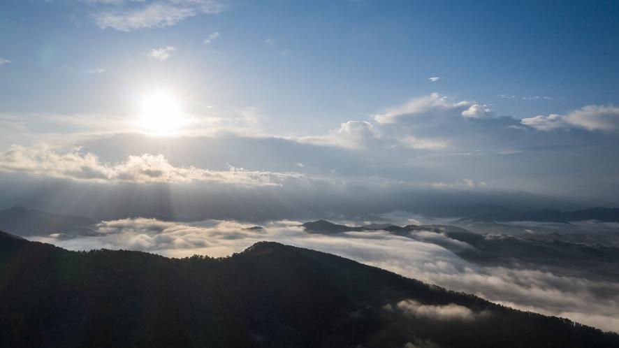 朝ツアー/十分一山から雲海を眺める※よく現れる時期は9月~11月頃、天候による