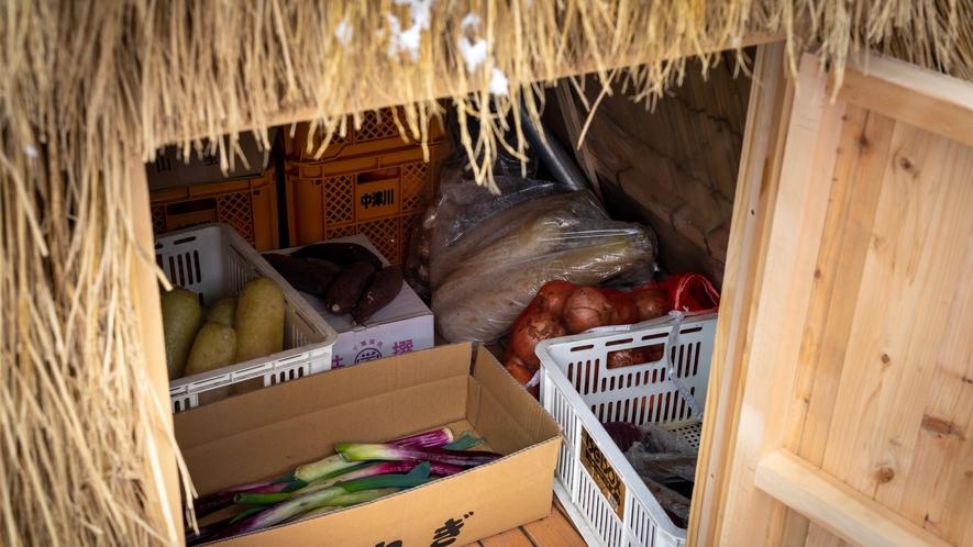 雪室/野菜が甘くなる保存法で、料理をさらに美味しくお楽しみいただきます