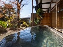【SAKURA03】春には蔵王石をくり抜いた露天風呂に浸かりながらお花見を!新緑の湯あみも格別