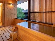 【SAKURA04】2階はヒノキの露天風呂