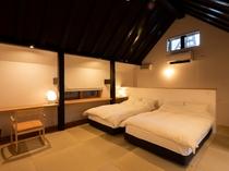【KURA04】2階がベッドルームのメゾネットタイプの客室