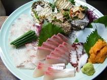 海席料理のお刺身(一例)