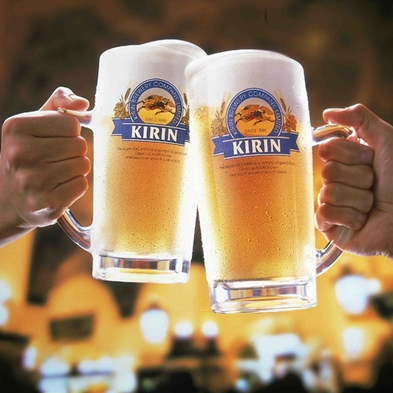 【期間限定】★生ビール60分飲み放題★天然温泉も満喫♪2食付