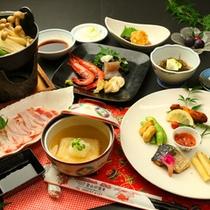 【夕食】人気の黒豚しゃぶしゃぶ!鹿児島名物でお腹いっぱいに!