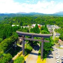 【霧島神社】鳥居を上空から!閑寂な老杉の濃い緑が印象的な神社!