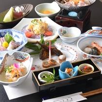 *お夕食一例(4000円コース)/奥出雲の豊かな自然でおもてなしする美味多彩な食事をぜひご堪能下さい