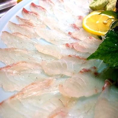 ≪日本酒にあう一品≫アワビの柔らかさ、旨さにうふふ♪切り方で変わる鯛刺しの魅力驚きプラン【秋得】
