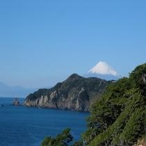 黄金崎から見た♪富士山