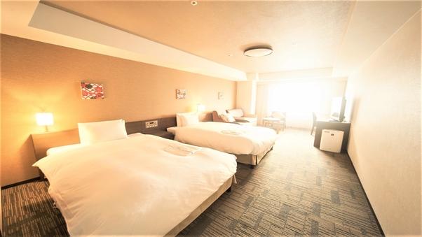 ◆ユニバーサルツイン禁煙【2名】40平米・122cm幅ベッド
