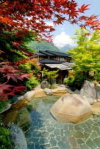 紅葉の温泉
