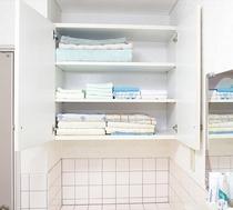 4階 洗面所 / 脱衣場 タオル置き場