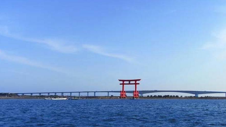「浜名湖と大鳥居の見える」お部屋からの風景