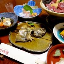 【夕食一例】お料理はすべて手作り!鳥取産の食材を使用することにこだわっています。