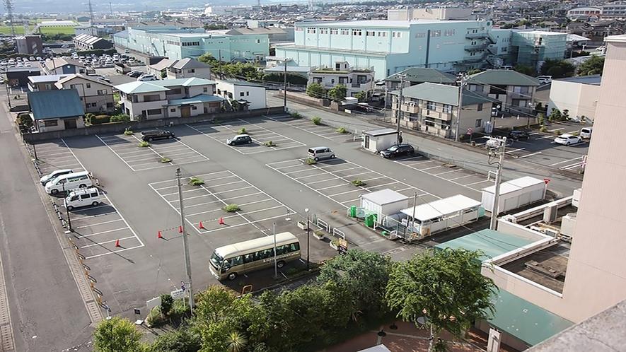 駐車場上空写真