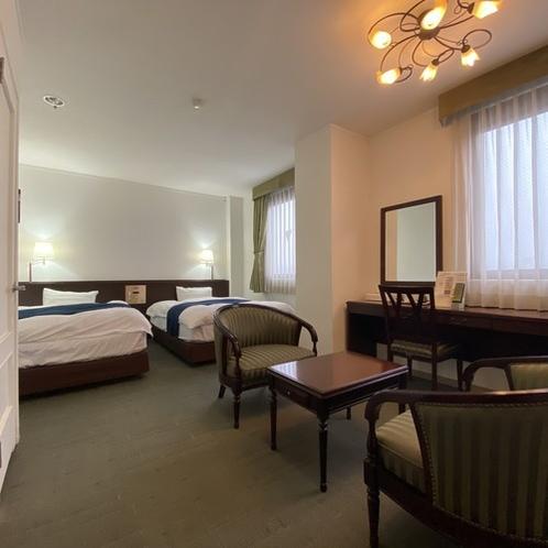 【スイートツイン(禁煙)】当ホテルで1室のみ。快適な滞在を♪<Wi-Fi、ウォシュレット完備>