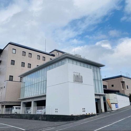 【ホテル外観】庄原を代表する大規模ホテル。ビジネスにレジャーにご利用ください!