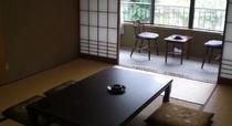 7.5畳、又は8畳の和室。広縁には洗面台完備。北アルプスの絶景が望めます!
