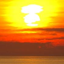 *空がオレンジに染まる、極上のひと時を堪能…。