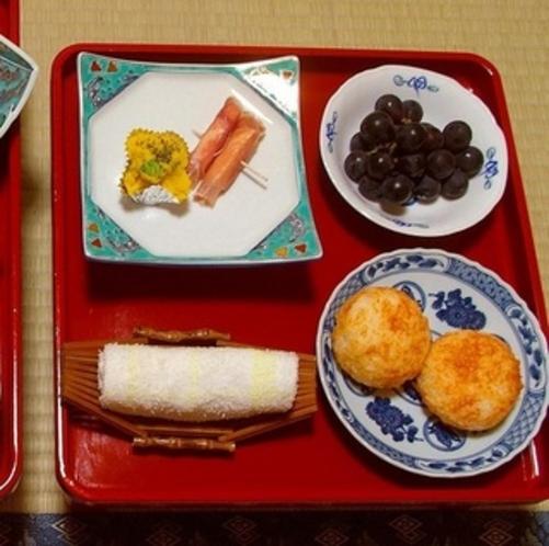 湯治Aプランの夕食例(二の膳)