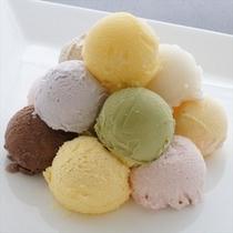 10種類のアイスクリーム