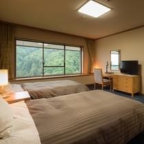 【禁煙:和洋室】和室12畳+ツインルーム(120cmセミダブルベッド)