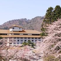 ホテル紅葉館 外観(春)