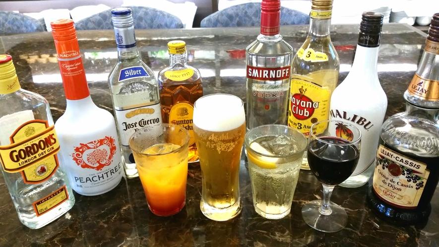 【ランチ/ディナー】豊富なアルコールをご用意しております