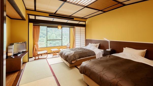 【禁煙】和室ツイン+広縁|10畳間にベッド2台