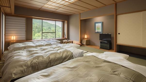 【禁煙】ベッド付和室15畳広間(小宴会場部屋)|湯めぐり満喫