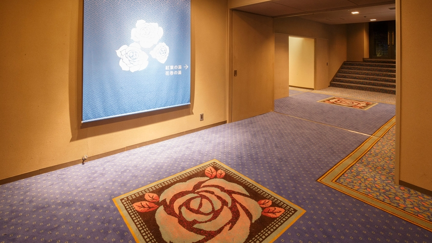 ホテル千秋閣 バラの小径