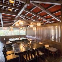 隣接するホテル花巻の和食処「羽山」