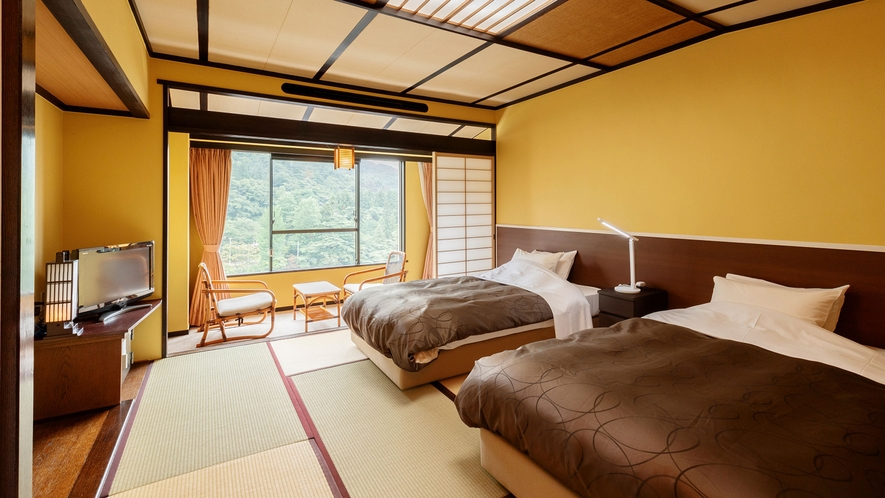 和室ツイン~和と洋の良さをあわせ持つ、10畳間にベッドが2台のツインルーム ~