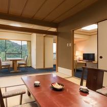 ゆったり寛げるリビング付和室(12畳+リビング)お部屋のグレードアップでいつもよりリッチに!