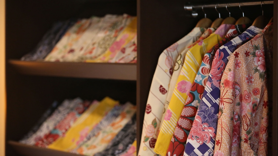 【女性限定】選べる色浴衣 貸し出し料金:1着500円
