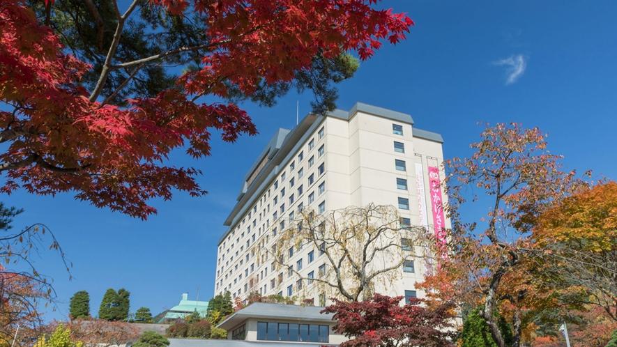 ホテル千秋閣 秋の外観