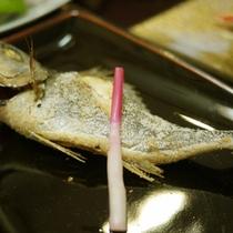 *夕食例(魚の塩焼き)