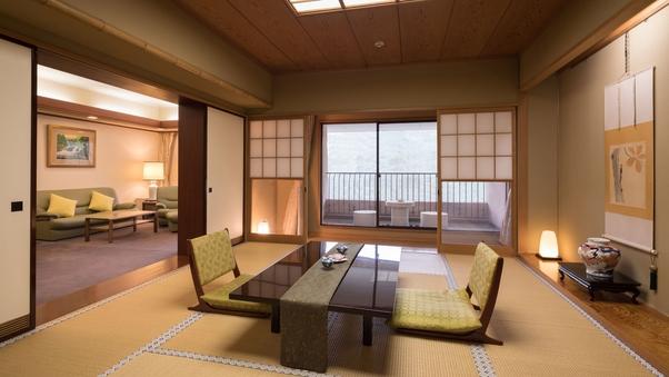【禁煙】特別室 ローズスイート|リビング+10畳+洋室ツイン