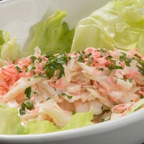 バイキングメニュー例「白菜と桜えびの明太サラダ」