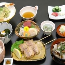 和食処「羽山」にて郷土料理中心の和食膳