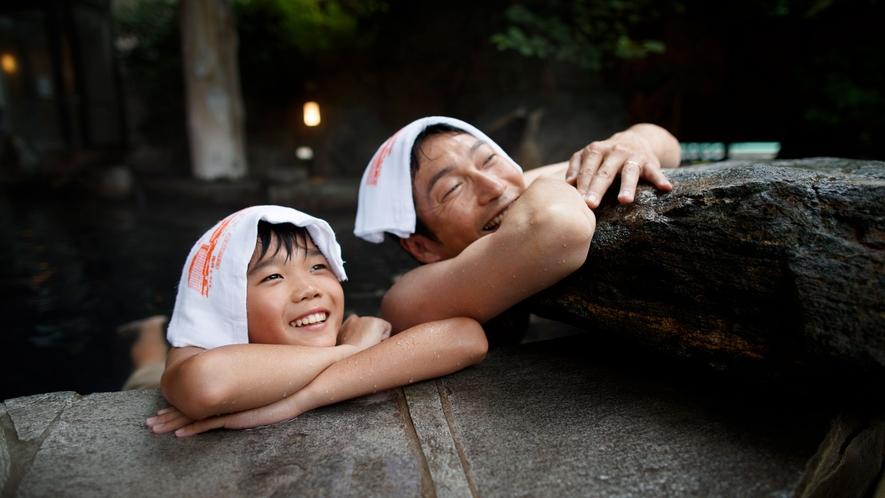 ファミリーに人気♪隣接するホテル紅葉館 岩露天風呂
