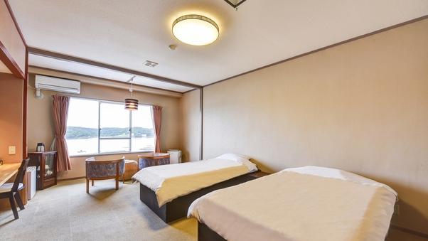 【海が見える洋室】スタンダードツイン29平米(バストイレ付)