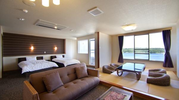 【海が見える展望風呂付】特別室63平米(和洋室ツイン+6畳)