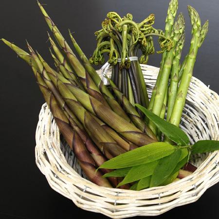 新鮮な山の息吹山菜をお楽しみ下さい。