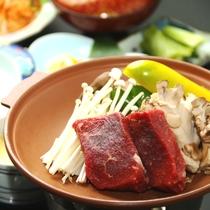 夕食_信州牛陶板焼き