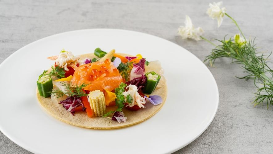 【アイリス/夕食】里山野菜を使った前菜(イメージ)